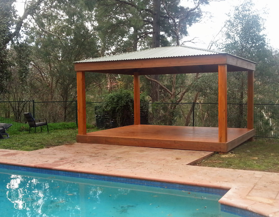 3m x 5m gazebo with deck