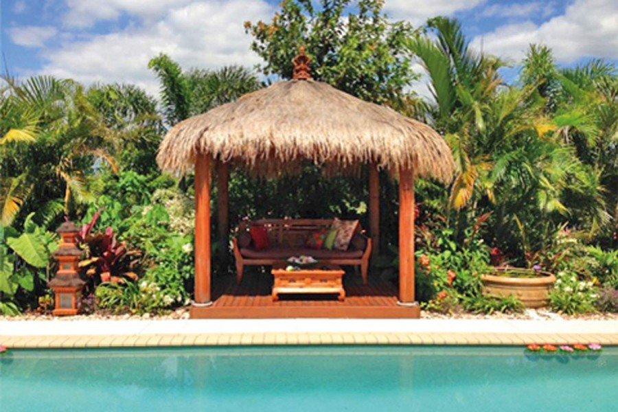 Bali Hut Beside a Pool
